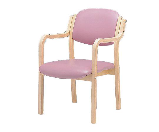 立ち上がりに便利な椅子 (アイリス) (深型/520x590x800mm/ピンク) IRS-150-V ピンク 1脚【条件付返品可】
