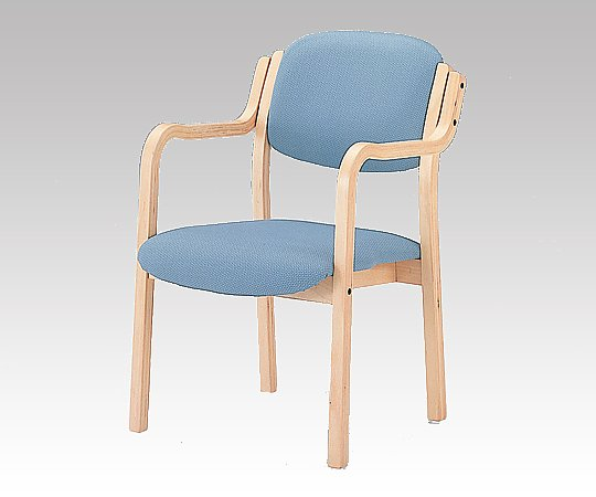 立ち上がりに便利な椅子 (アイリス) (深型/520x590x800mm/ブルー) IRS-150-V ブルー 1脚【条件付返品可】