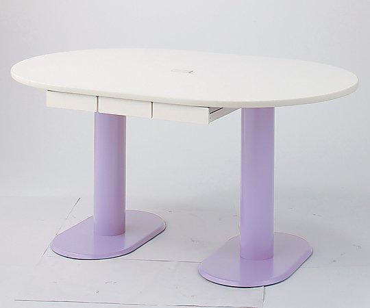ナーステーブル(2本脚) 2400x1200x740mm M-2412L-C 1台 【大型商品】【同梱不可】【代引不可】【キャンセル・返品不可】