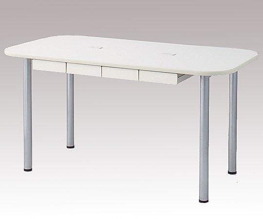 ナーステーブル(天板配線穴有) 2200x1200x750mm 2212L-WC 1台 【大型商品】【同梱不可】【代引不可】【キャンセル・返品不可】