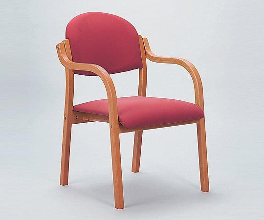 木製椅子(ビニールレザー張りタイプ) ローズ MW-320RO 1脚【条件付返品可】