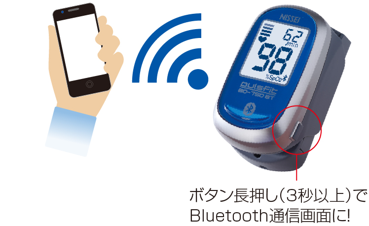 パルスフィット BO-750BT Bluetooth対応 パルスオキシメーター 縦60x横34.8x高さ31.8mm 1台 日本精密測器【条件付返品可】