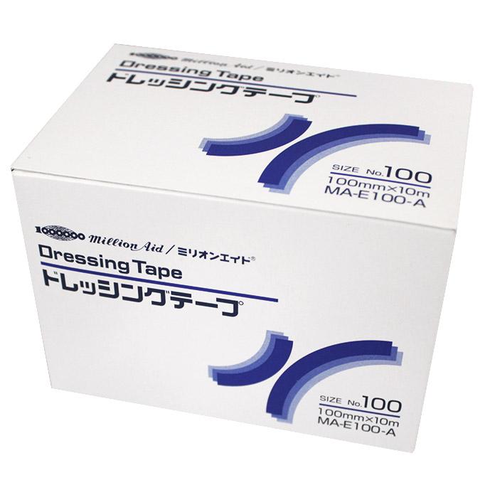 ミリオンエイド ドレッシングテープ 10m No.100 100mmx10m MA-E100-A 1箱4巻 共和【返品不可】