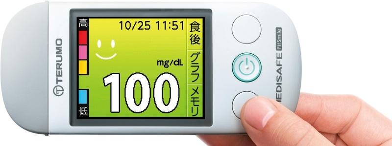 メディセーフフィット スマイル MS-FR501W 本体のみ テルモ 血糖値測定器【条件付返品可】