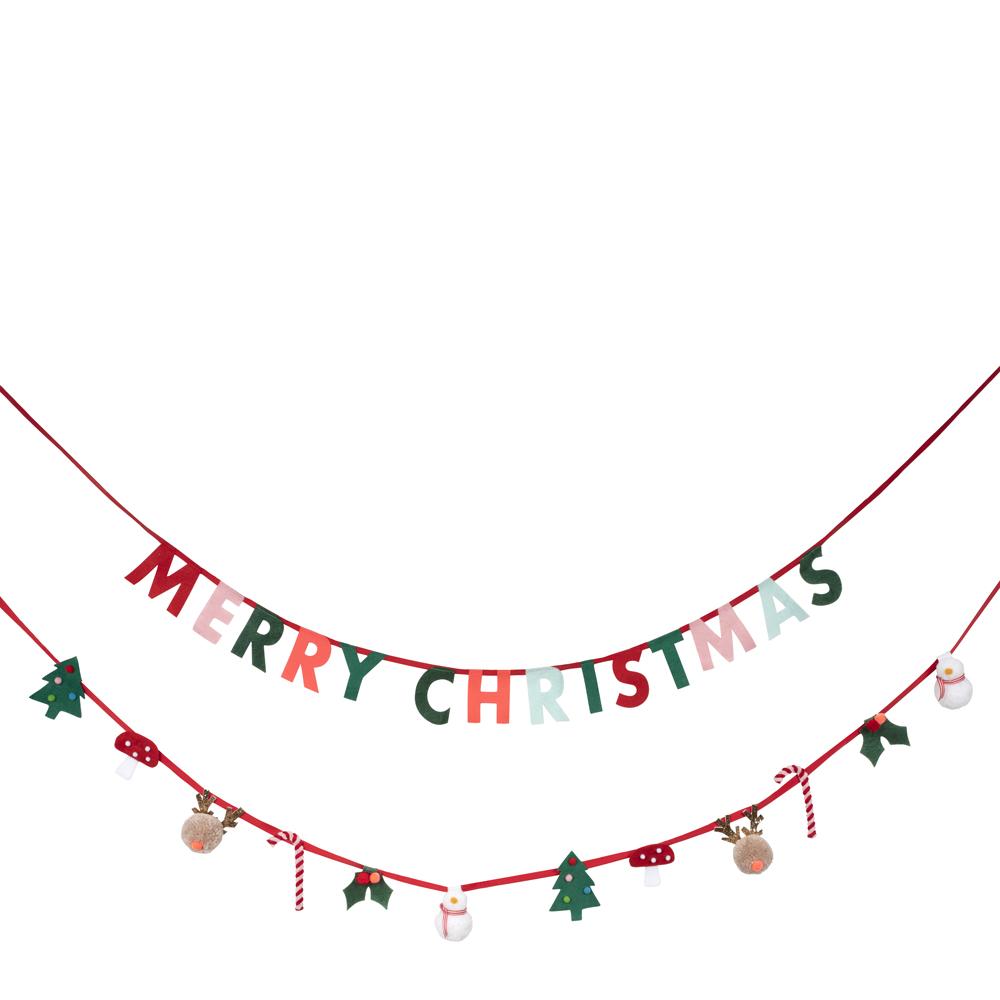 merimeriのパーティーグッズを組み合わせてパーティーデコレーション お部屋がおうちスタジオへ Meri メリメリ Festive Felt Motif Garland 祝祭フェルトモチーフガーランド 特売 部屋飾り クリスマスパーティ プレゼント ガーランド飾り 花輪 ギフト 美品 デコレーション クリスマスグッズ イベント