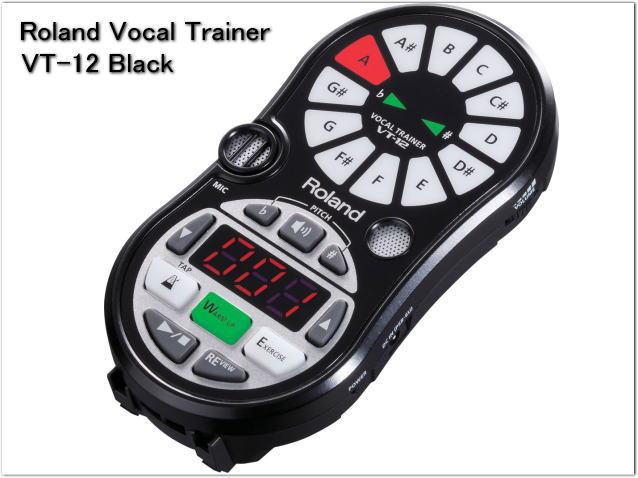 【送料無料】Roland VT-12 ブラック/ローランド ボーカルトレーナー(VT12-BK)