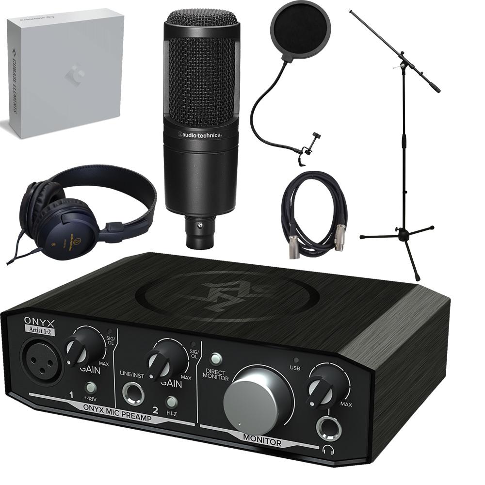 【送料無料】Steinberg Cubase Elements付き DTM入門セット mackie USBオーディオインターフェイス Onyx Artist + audio-technica AT2020