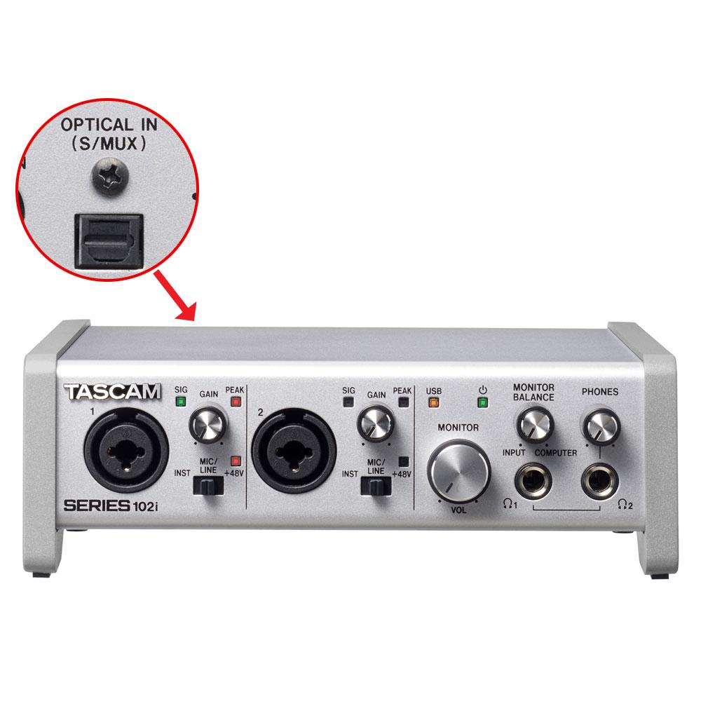 在庫あり【送料無料】TASCAM USBオーディオ/MIDIインターフェイス Series102i タスカム 【拡張により10INまで対応】