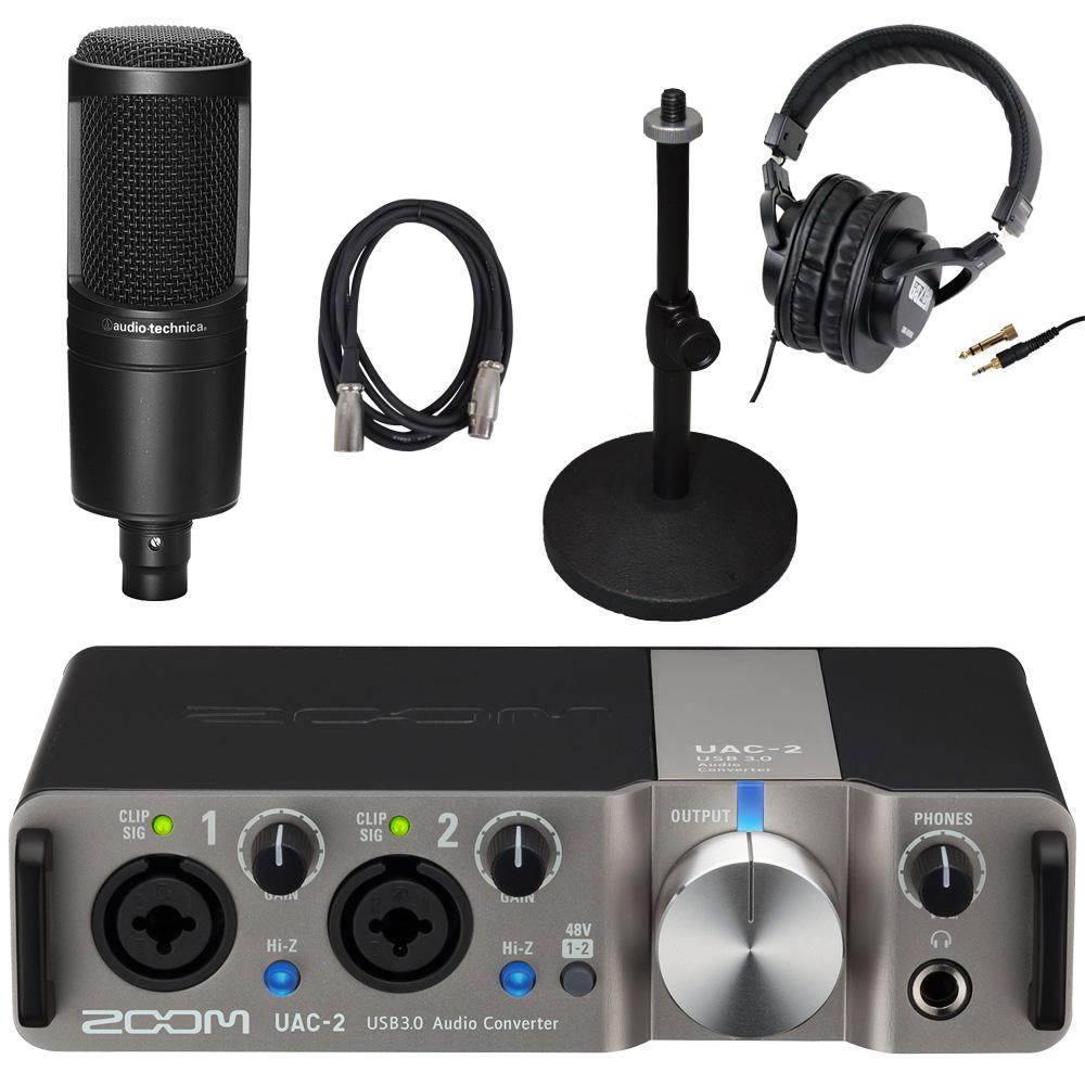 【在庫有り】ZOOM USB3.0 オーディオインターフェイス UAC-2 + audio-technica AT2020付セット