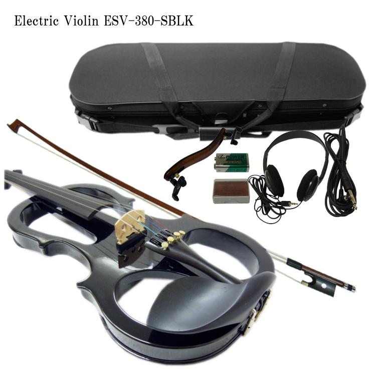 サイレントバイオリンの様な消音効果 静かに弾ける 在庫有り 送料無料 消音効果抜群のエレキバイオリン 定価の67%OFF 試奏検品 調整後出荷 8点セット 2020 新作 ESV-380Sブラック