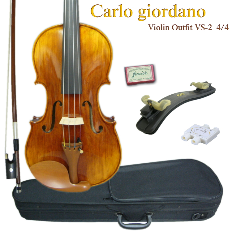 教室で使えるバイオリン 送料無料 CarloGiordano:バイオリン VS-2 販売期間 限定のお得なタイムセール VS2 6点セット 4■カルロジョルダーノ 大人用4 安心の実績 高価 買取 強化中
