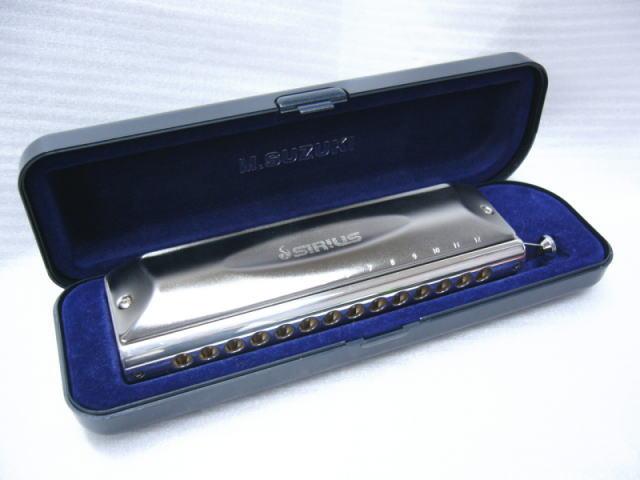 【送料無料】SUZUKI(スズキ) クロマチックハーモニカ SIRIUS(シリウス)シリーズ 14穴ストレート配列 S-56S(S56S)