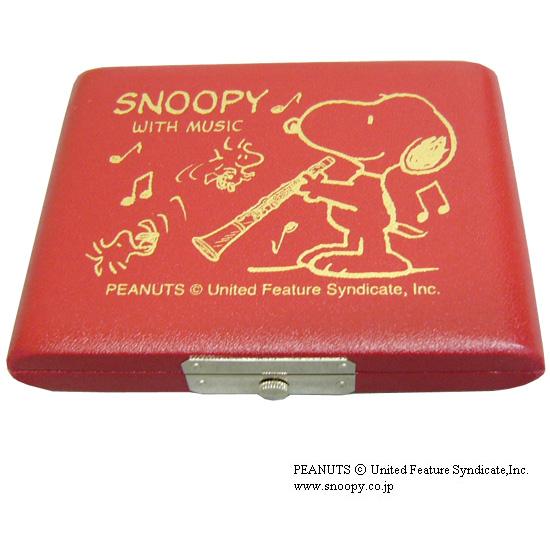 SNOOPY スヌーピー リードケース お気に入り 5枚用 お気に入り B♭クラリネットレッド メール便送料無料