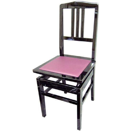 在庫あり【送料無料】日本製:ピアノ椅子 背もたれ付きタイプ トムソン椅子:NO.5-New