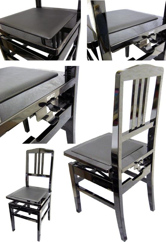 有,并且库存日本制造:附带钢琴椅子背面的型汤姆逊椅子:NO.5BLK(黑色)-New