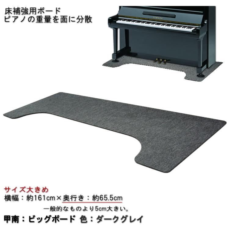 送料無料【大きめサイズ161cm×65cm】ピアノ用 床補強ボード:甲南 ビッグボード BB ダークグレイ【ラッキーシール対応】