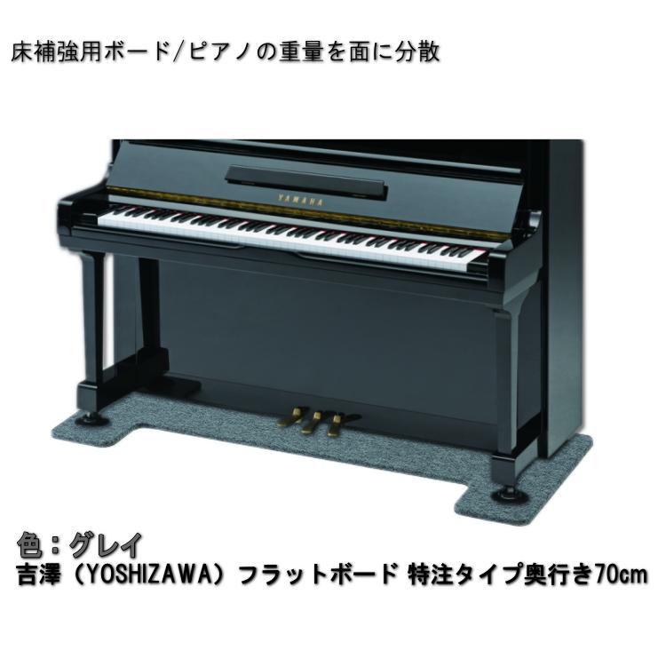 送料無料【ワイドタイプ】ピアノ用 床補強ボード:吉澤 フラットボード FB グレイ/ピアノアンダーパネル
