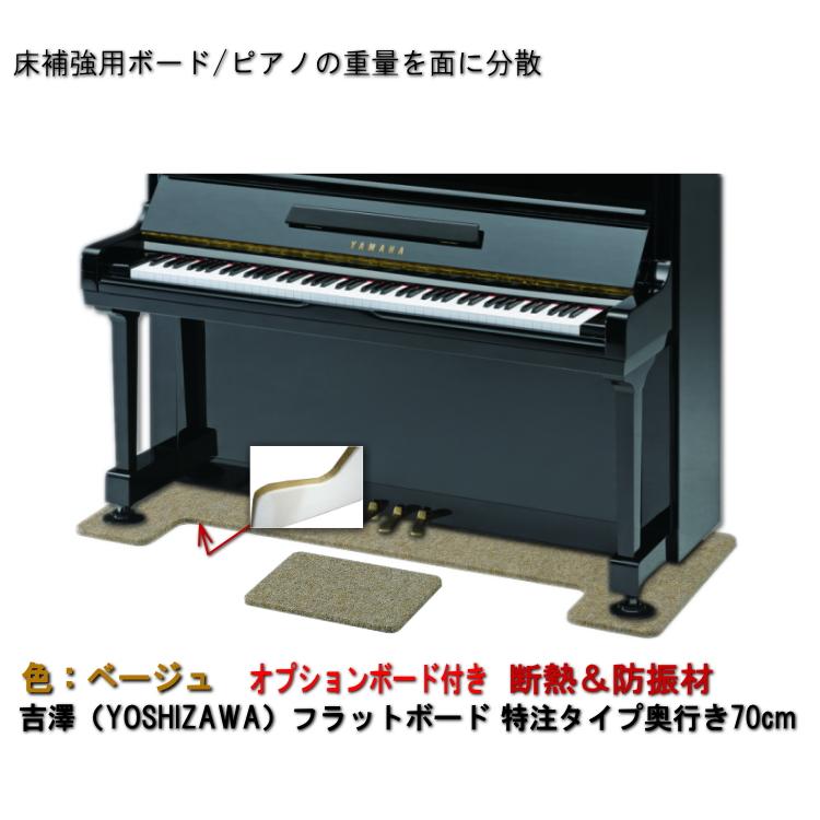 送料無料【ワイドタイプ】ピアノ用 防音&断熱&床補強ボード+補助台用ボード:吉澤 フラットボード静 FBS-OPベージュ/ピアノアンダーパネル