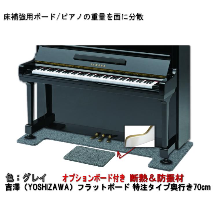 送料無料【ワイドタイプ】ピアノ用 防音&断熱&床補強ボード+補助台用ボード:吉澤 フラットボード静 FBS-OPグレイ/ピアノアンダーパネル