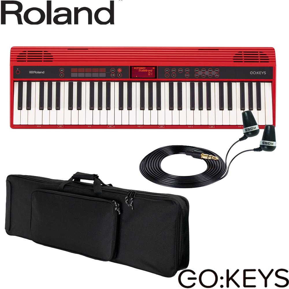 【送料無料】ケース付■ローランド エントリーキーボード GO KEYS (イヤフォン付セット)