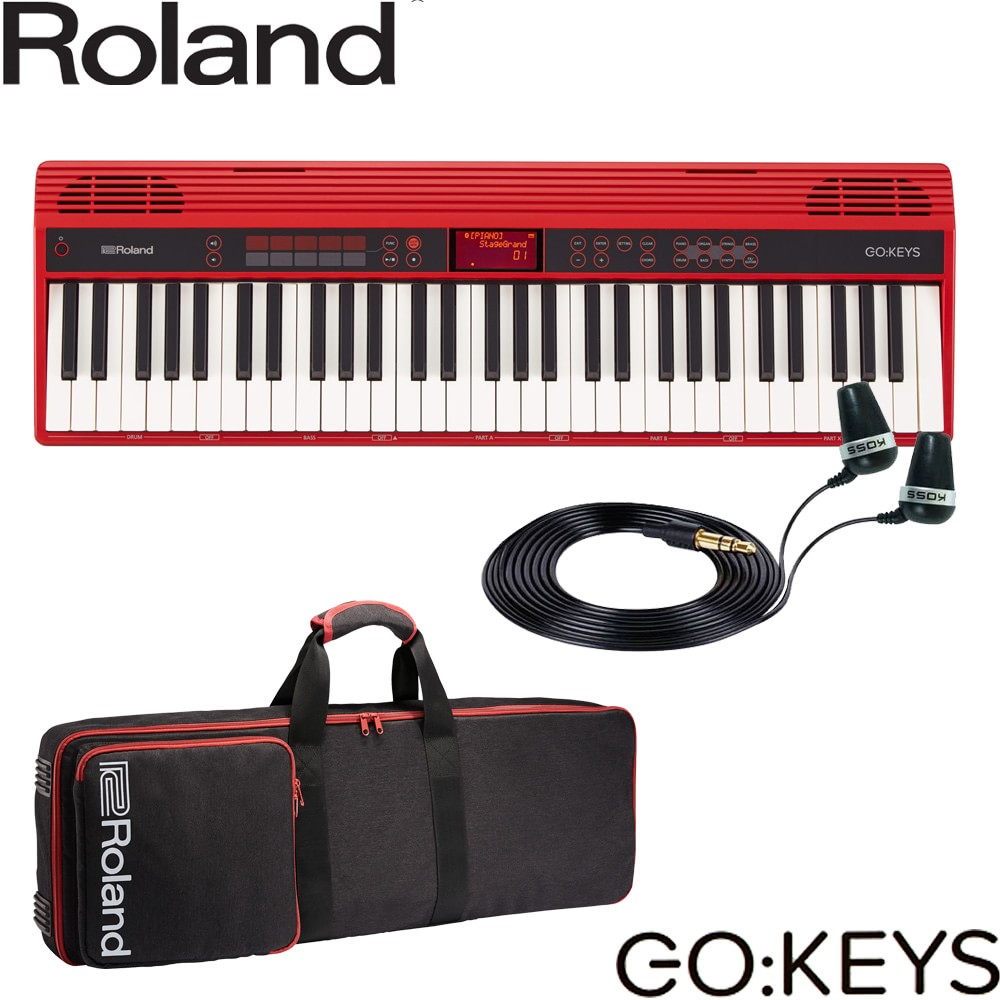 【送料無料】ローランド Roland 電子キーボード GO KEYS (持ち運びに便利なキーボードケース&イヤフォン付きセット)【ラッキーシール対応】
