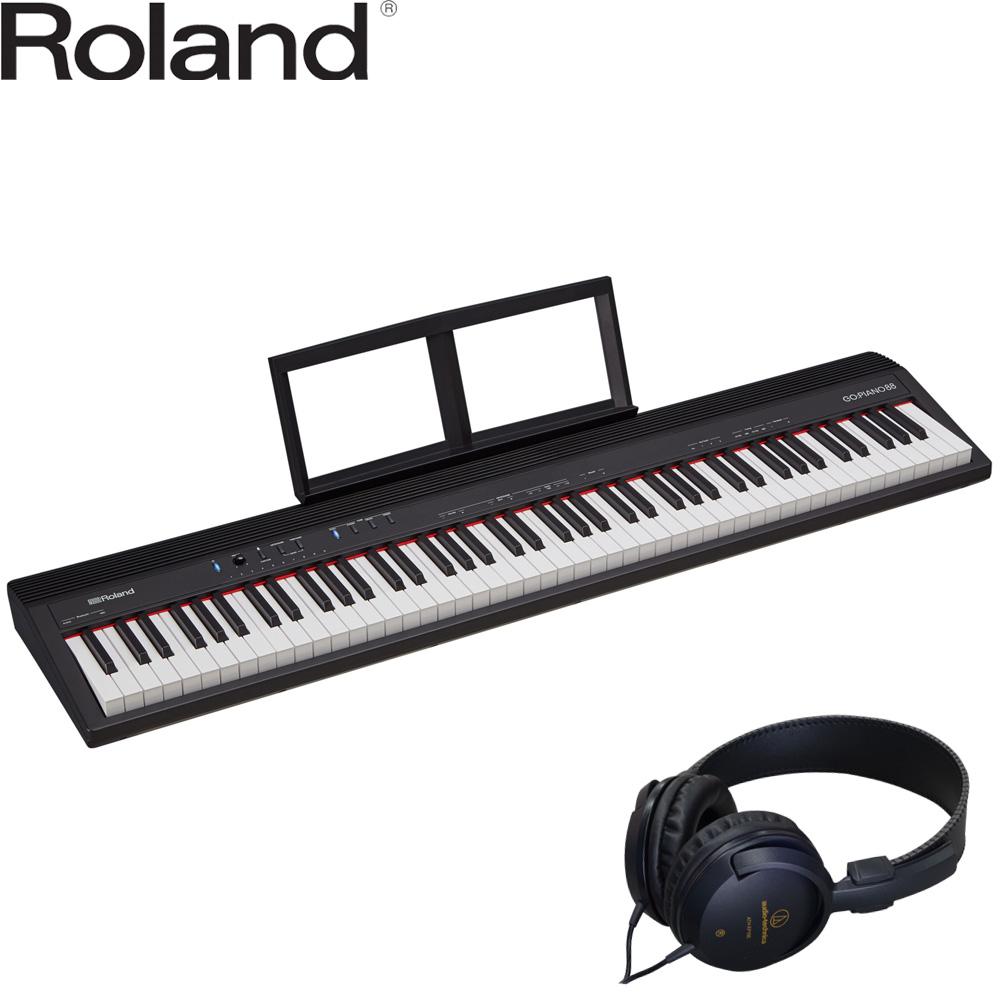 【送料無料】ローランド 88鍵盤 電子キーボード GO PIANO 88 / ゴー ピアノ (ステレオヘッドフォン付)【ラッキーシール対応】