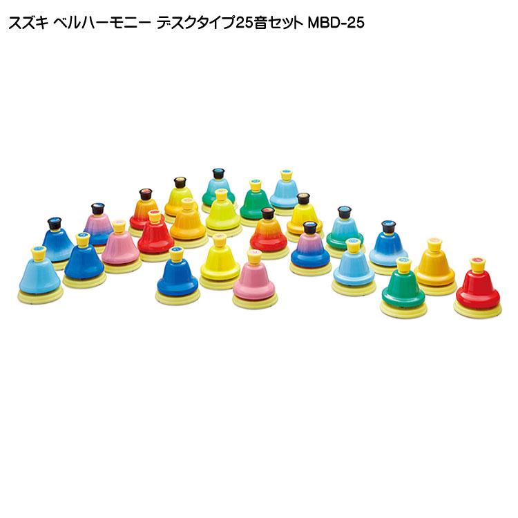 お取り寄せ【送料無料】スズキ ミュージックベル(ハンドベル) 25音セット デスクタイプ ベルハーモニー:鈴木楽器