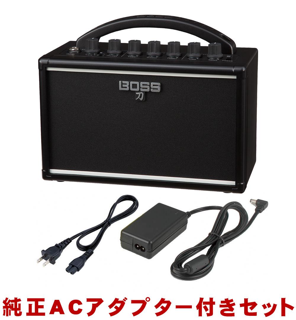 在庫あり【送料無料】BOSS ミニギターアンプ KATANA MINI (純正ACアダプター付きセット)ディストーション内蔵【ラッキーシール対応】
