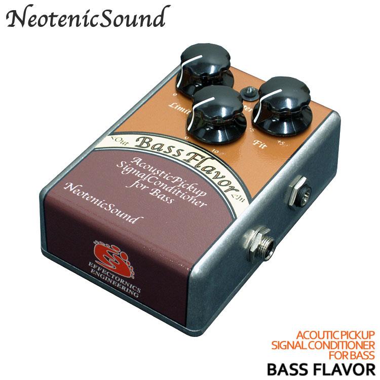 【送料無料】NeotenicSound ベース用アコースティックピックアップシグナルコンディショナー BassFlavor ネオテニックサウンド エフェクター EFFECTORNICS ENGINEERING