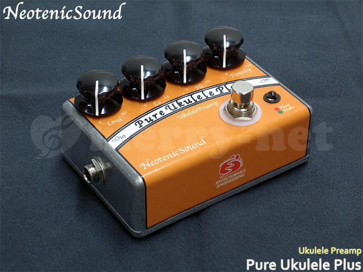 在庫あります■NeotenicSound ウクレレ用プリアンプ Pure Ukulele Plus ネオテニックサウンド エフェクター EFFECTORNICS ENGINEERING【ラッキーシール対応】