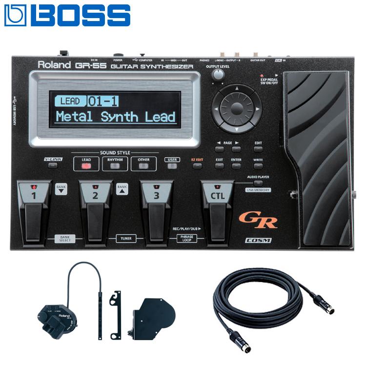 【送料無料】BOSS ギター・シンセサイザー GR-55GK-BK