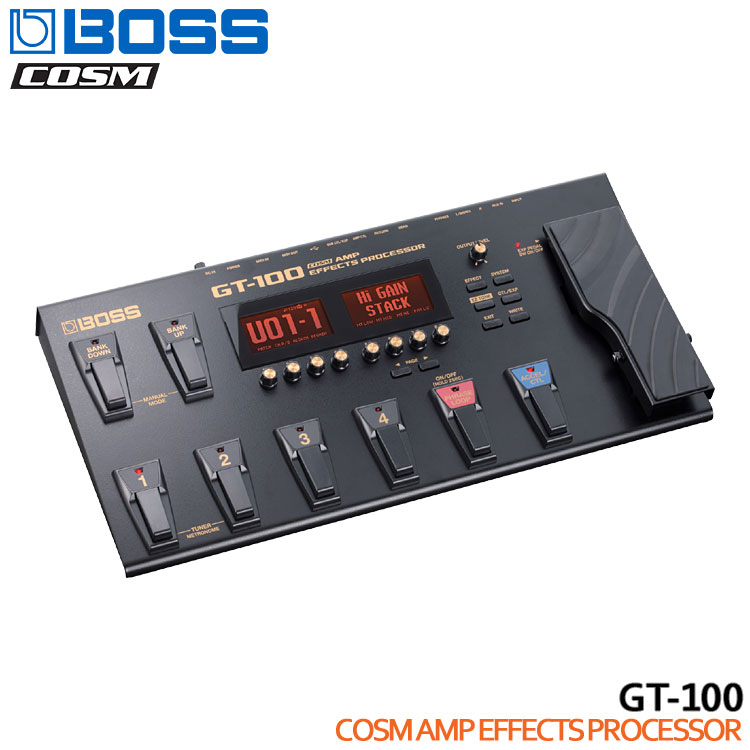 【送料無料】BOSS フロアマルチシリーズ GT-100 COMSアンプエフェクツプロセッサー ボスマルチエフェクター【ラッキーシール対応】