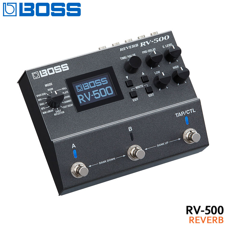 店内全品対象 Reverb 在庫あり 送料無料 BOSS ボスコンパクトエフェクター リバーブ 新品未使用 RV-500