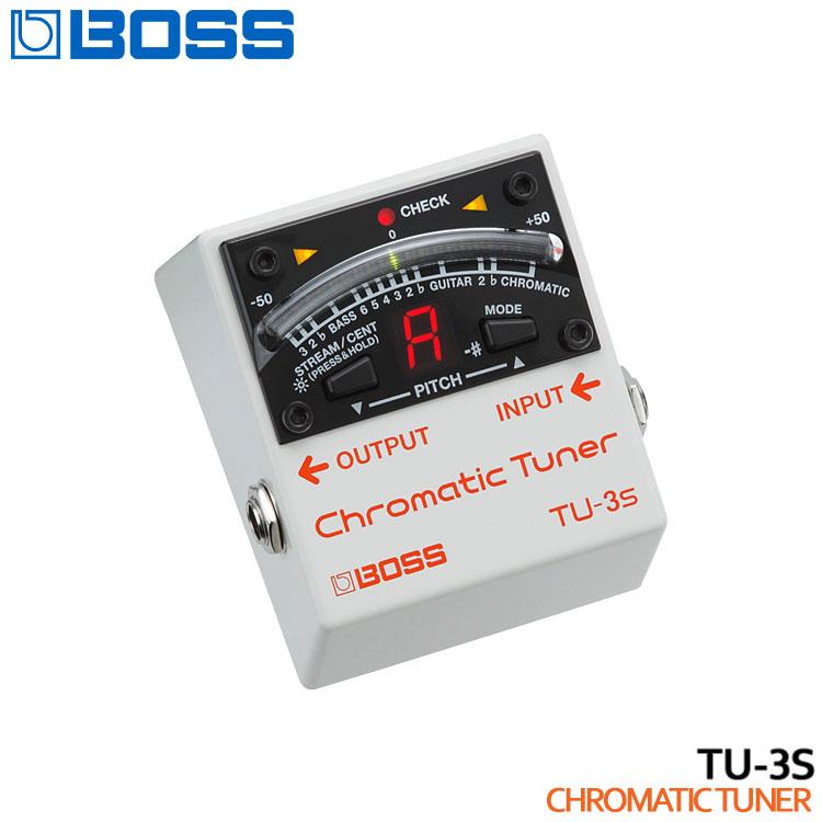 【送料無料】BOSS クロマチックチューナー TU-3S Chromatic Tuner ボス エフェクター■PU5