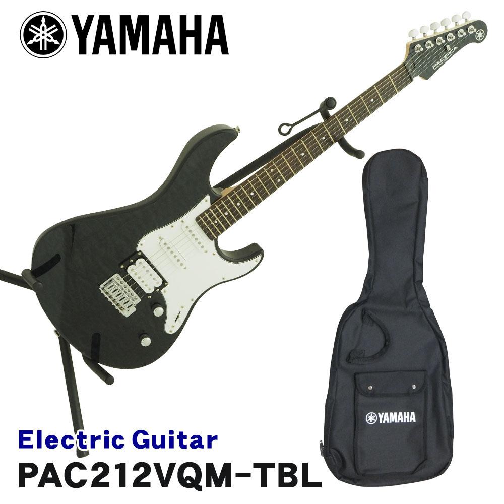 在庫あり【送料無料】YAMAHA エレキギター PACIFICA212VQM パシフィカ トランスルーセントブラック TBL ヤマハ