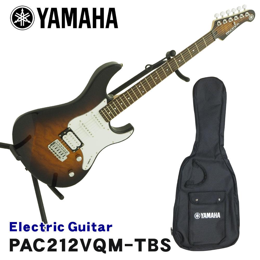 在庫あります【送料無料】YAMAHA エレキギター PACIFICA212VQM パシフィカ タバコブラウンサンバースト TBS ヤマハ【ラッキーシール対応】