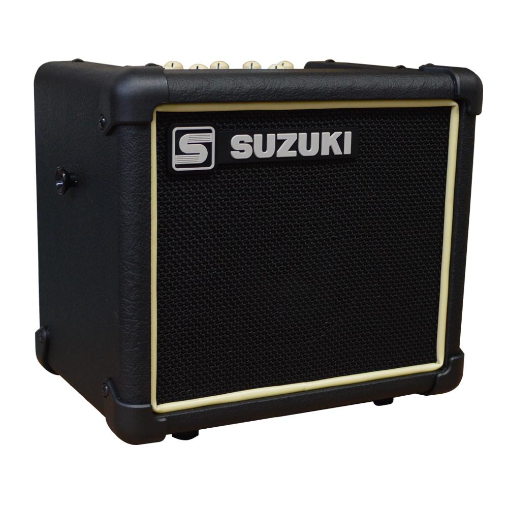 【送料無料】SUZUKI 楽器用アンプ SPA-03(電池駆動対応・マイク入力付き)