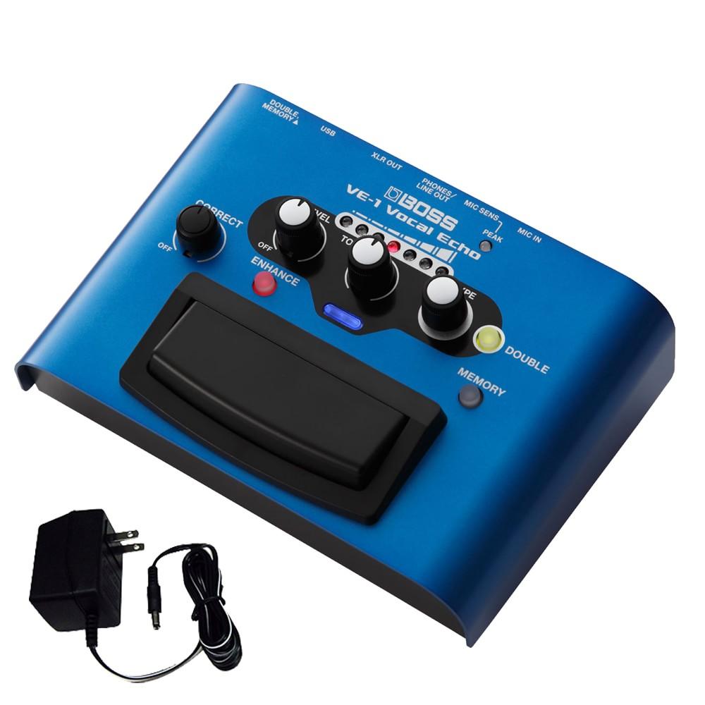 BOSS ボーカルエフェクター VE-1 ボーカル録音やライブに最適 (ACアダプター付きセット)【ラッキーシール対応】