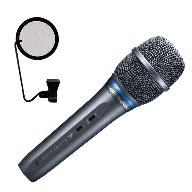【送料無料】audio-technica コンデンサーマイク AE5400 (ポップガード付き) 録音セット