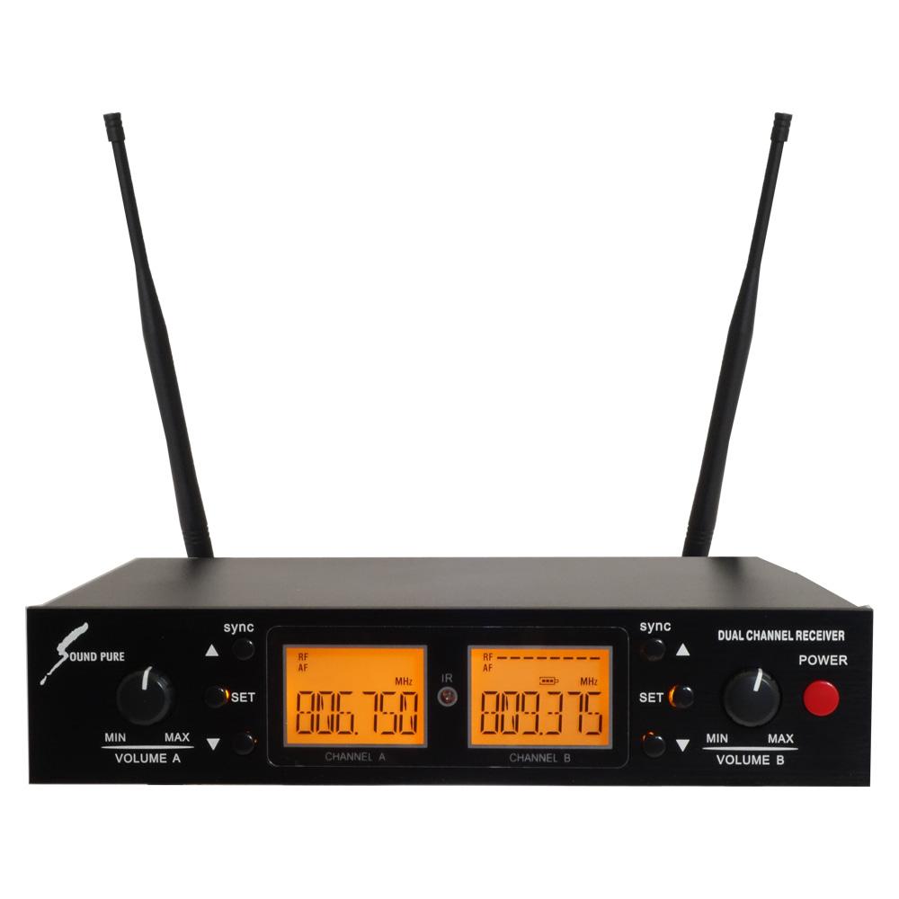 【送料無料】SOUNDPURE トランスミッター専用 デュアルチャンネル受信機 SP-W-H01 ハーフラック