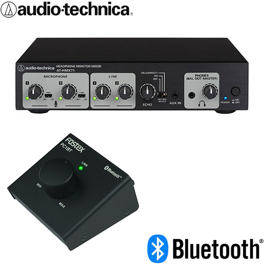 【送料無料】Bluetooth受信セット audio-technica エコーエフェクト付き カラオケ マイクミキサー