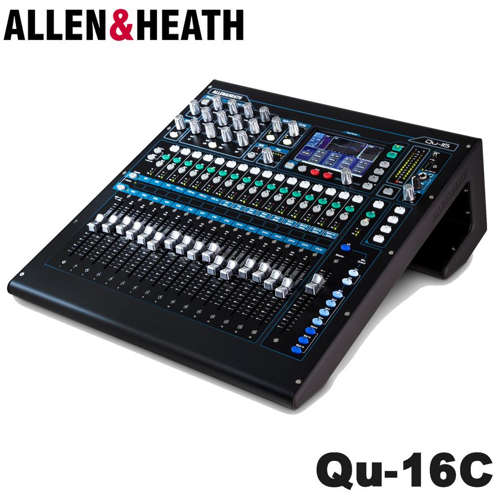 在庫あり【送料無料】ALLEN&HEATH デジタルミキサー Qu-16C 16マイク入力