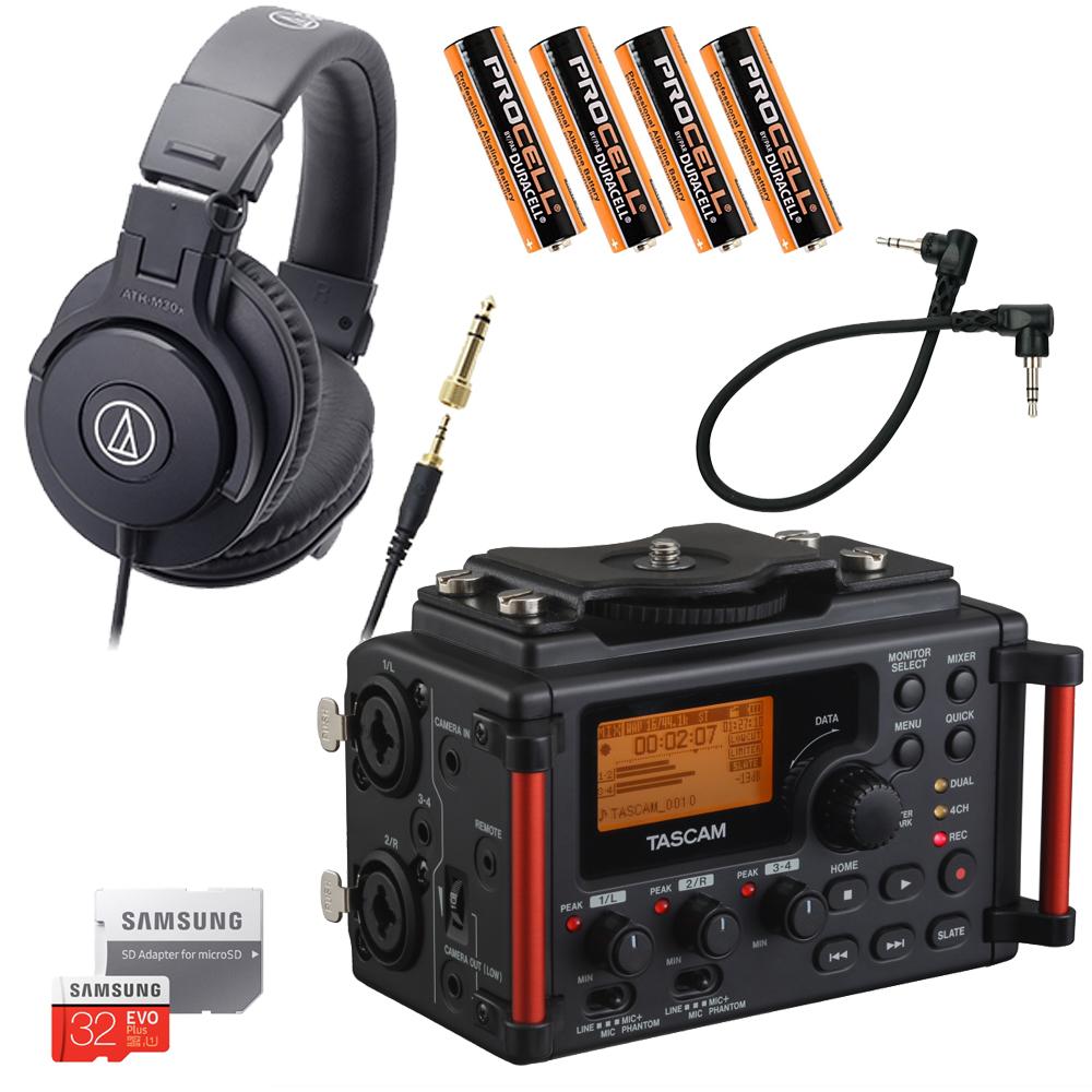 【送料無料】モニターヘッドフォン付■TASCAM レコーダー DR-60DmkII (ヘッドフォン ATH-M30x)