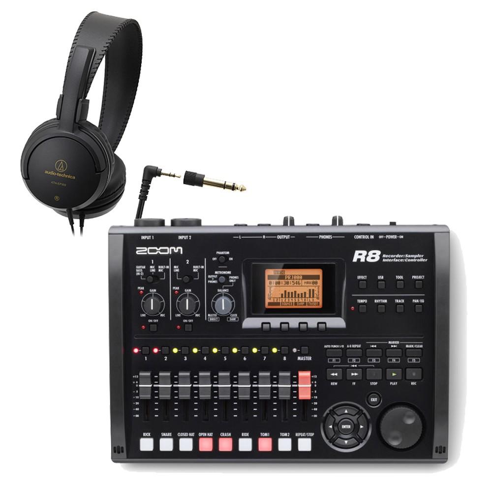 在庫あり【送料無料】ZOOM MTR R8 (ステレオヘッドフォン付きセット) ズーム マルチトラックレコーダー