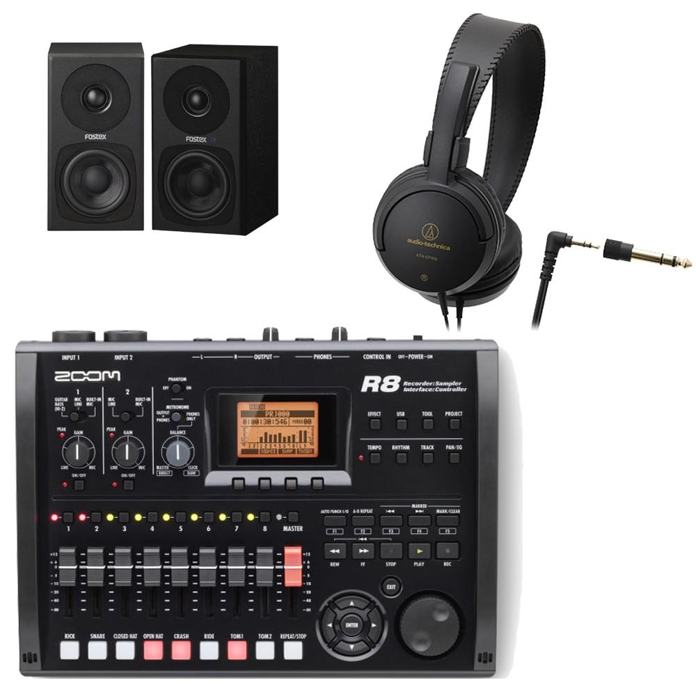【送料無料】ズーム ZOOM MTR R8 (モニタースピーカー/ヘッドフォン付きセット) マルチトラックレコーダー