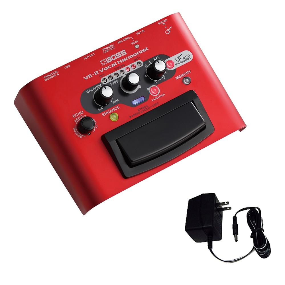 【送料無料】BOSS ボーカルエフェクター VE-2 (汎用ACアダプター付きセット) ボス ボーカルプロセッサー【ラッキーシール対応】