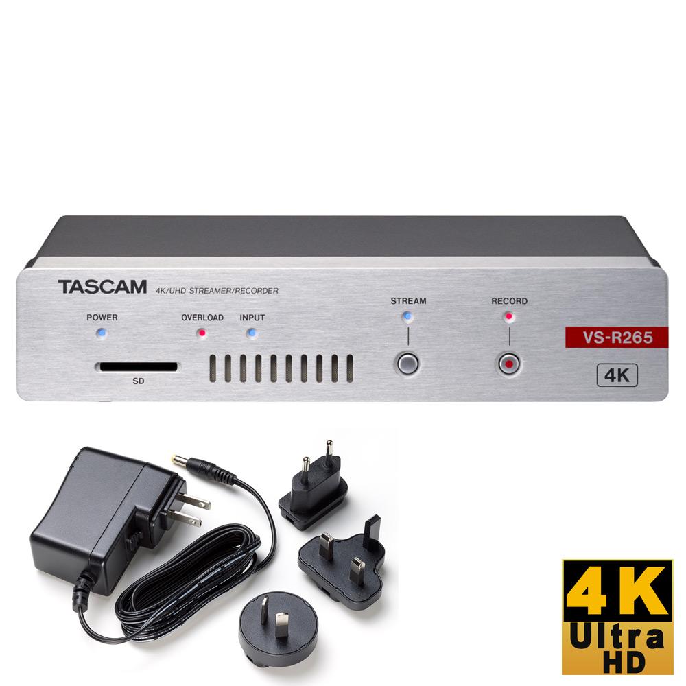 3月下旬入荷予定【送料無料】TASCAM R265 4K対応 ストリーマー/ビデオレコーダー(ACアダプター付属)