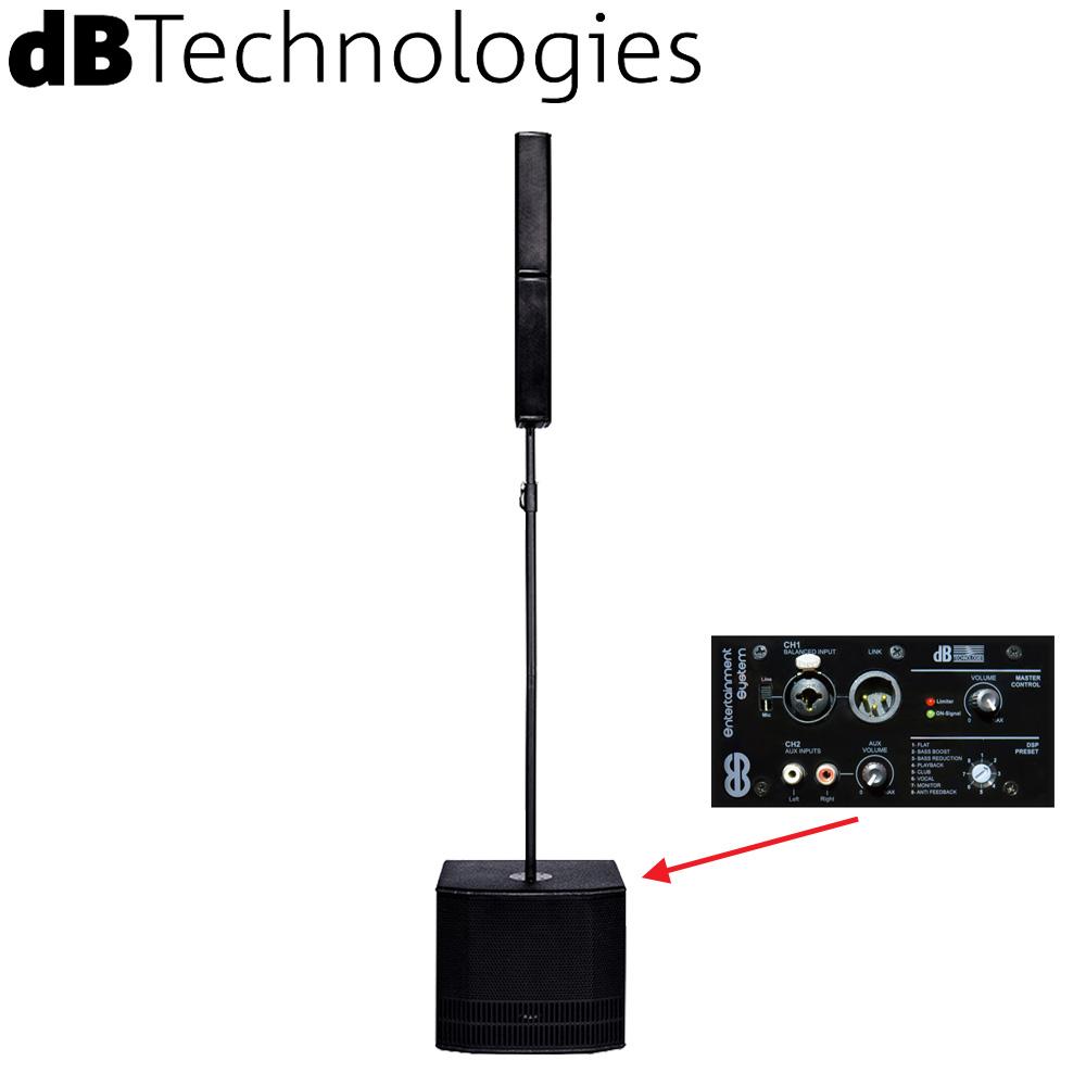 【送料無料】dBTechnologies コラム型スピーカーセット ES802 (モノラル/1200W PEAK)