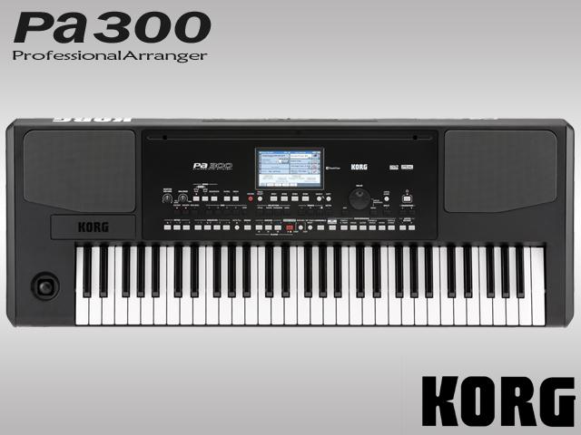 【送料無料】KORG アレンジャーキーボード PA300 61鍵盤 シーケンサー リズムマシン