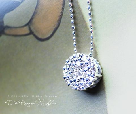 K18 WG 天然 ダイヤ パヴェ ネックレス ペンダント18金 ゴールド ダイヤモンド シンプル ネックレス ブライダル